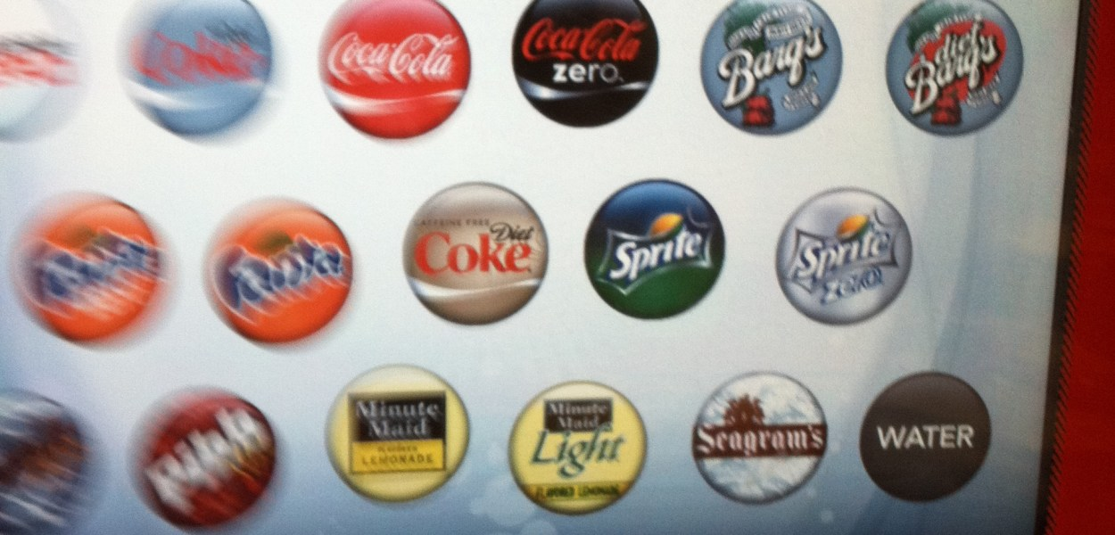 soda menu screen
