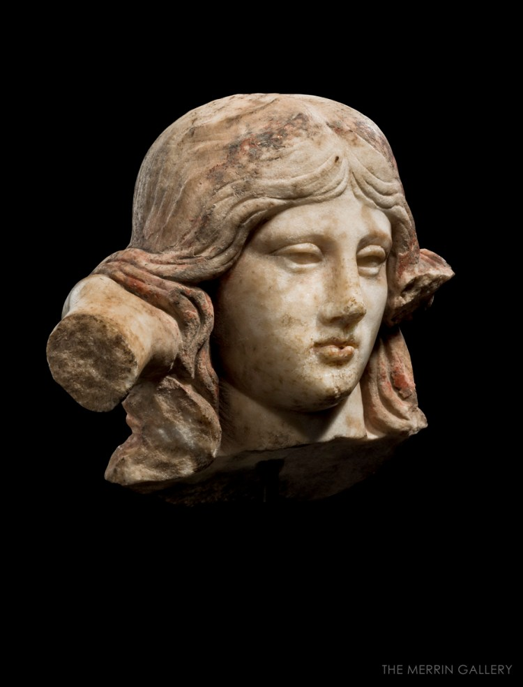 head of aphrodite anadyomene