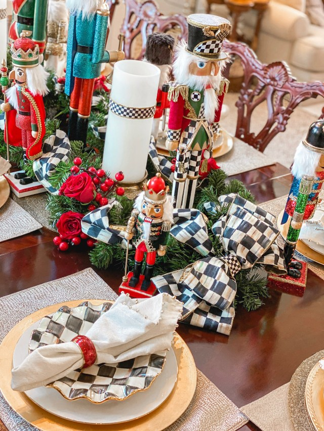 mackenzie childs holiday tablescape