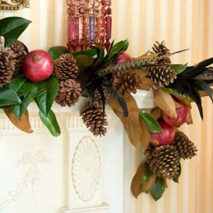magnolia leaves in christmas decorations