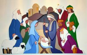 Nativity wooden puzzle image
