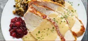Turkey. dressing and cranberries