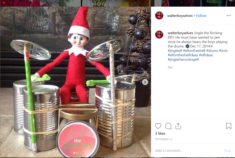 Elf with drums
