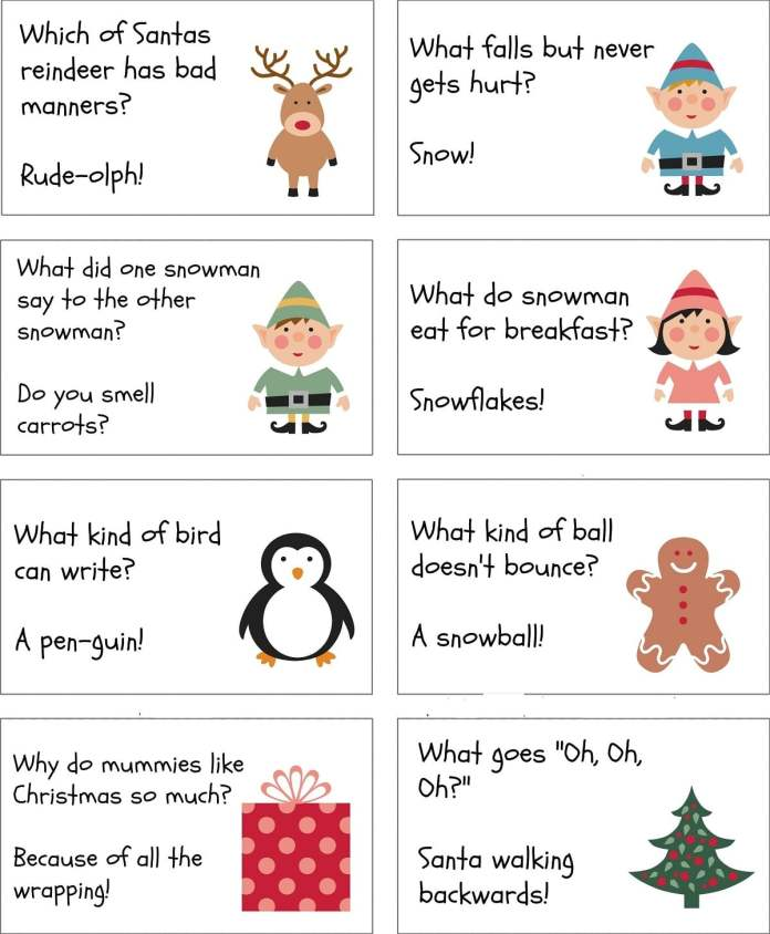 Christmas Riddles For Scavenger Hunt, Kids, Adults With