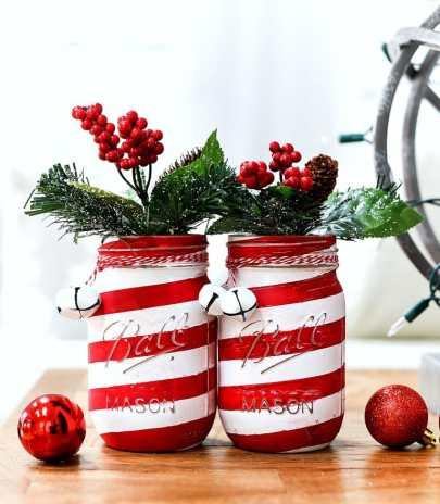 Candy-Cane-Mason-Jar-Craft-Painted-Distressed DIY