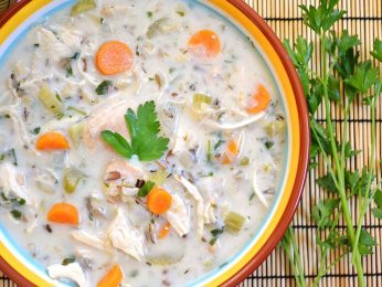Chicken Rice Soup close