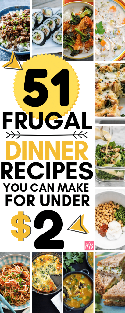 frugal dinner recipes to make under 2 dollars per meal, inexpensive meals, budget friendly healthy recipes, cheap meals to make, easy health recipes to make, cheap dinner, dollar store meal