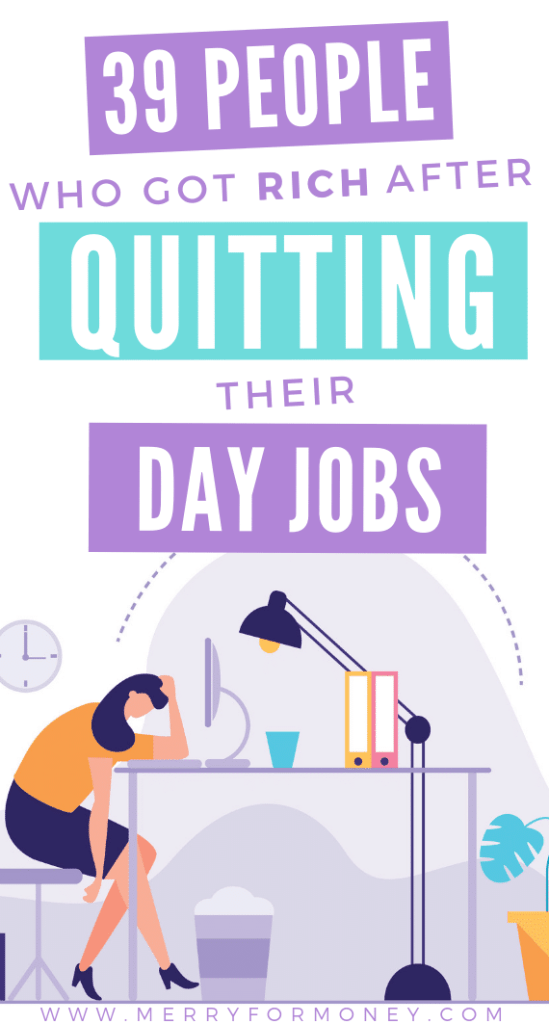 Some people just don't follow that day job crap! The entrepreneurial business minded woman follow instincts first!! #girlboss These 39 entrepreneurs got richer AFTER quitting their jobs. Achieve financial freedom & pursue your DREAMS. - Get rich quick, business, lucky bitch, money, quit job, advice, tips, quit job to stay at home, entrepreneurship ideas, extra money, starting a business ideas with no money, inspiring success stories, quitting job inspiration, small business work from home #sahm