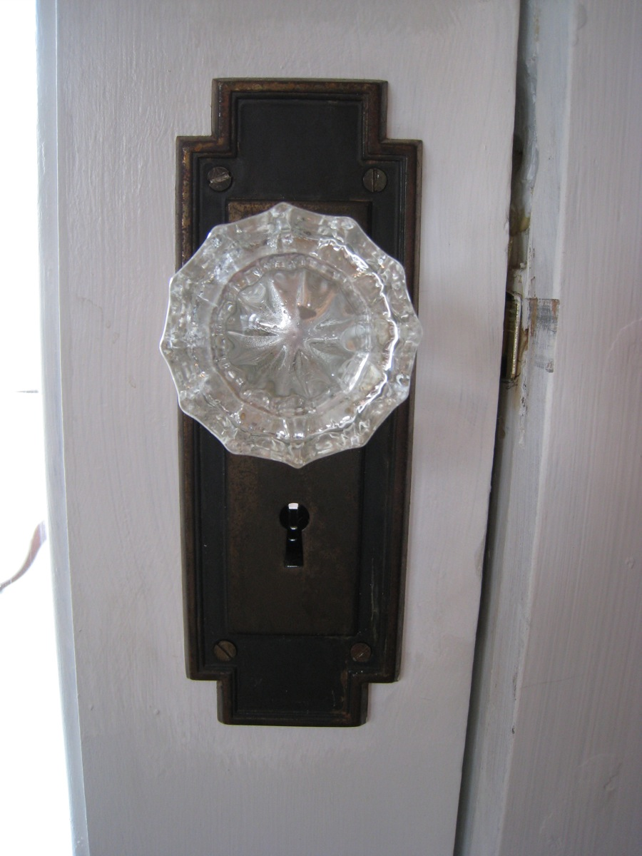 Installing An Old Salvaged Paned Glass Door Merrypad