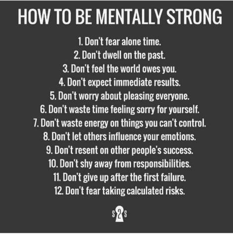 things to do to be mentally strong