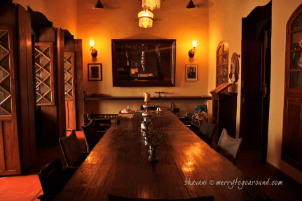 the dining room...