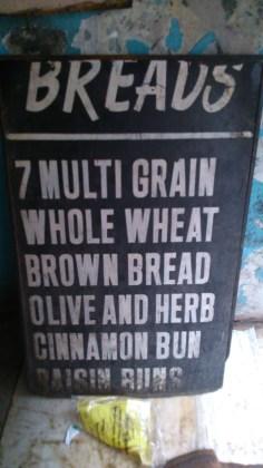 range of bread