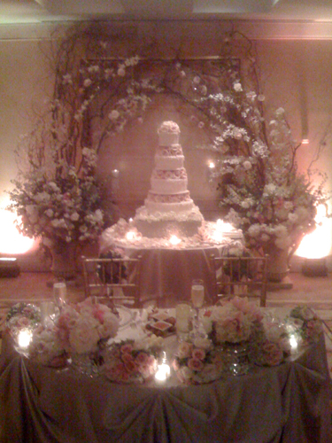The Sweetheart Table and Cake Table