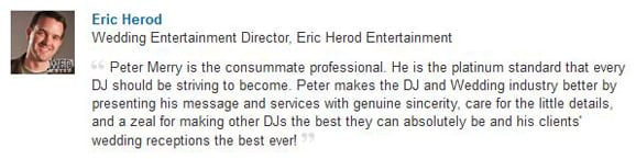 Eric Herod LinkedIn Endorsement-Gleam