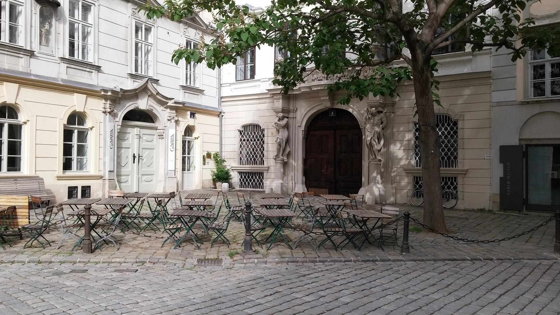 Narrow street in Vienna