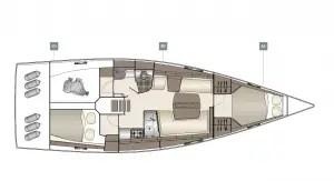 plan intérieur Dehler 42