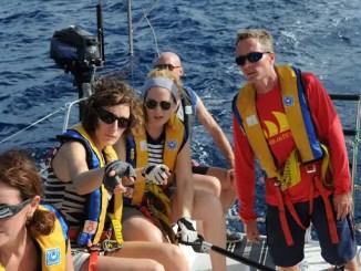 equipages à bord d'un voilier des glénans