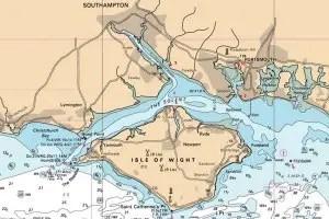 carte marine du solent
