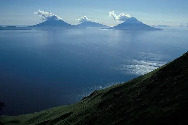 volcans des Îles Aléoutiennes