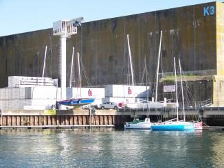 voiliers en carénage à Lorient