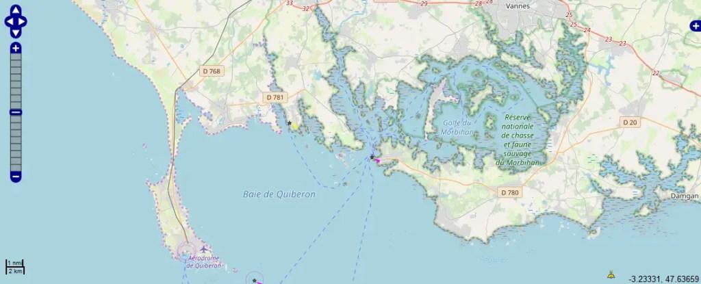 carte marine Baie de Quiberon