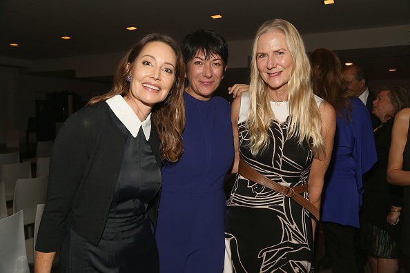 Ghislaine Maxwell with friends