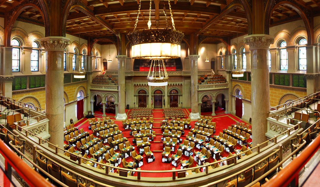New York State Assembly Chamber, where the Adult Survivors Act must pass to become law