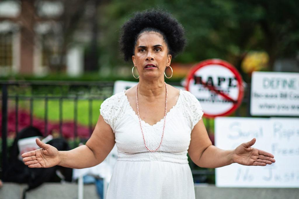 Lili Bernard protests for sexual assault legal reform