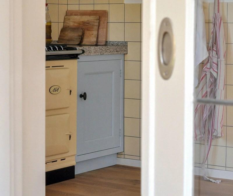 Authentieke keuken Santpoort glasinlood schuifdeuren