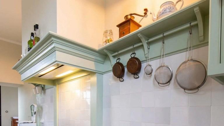 Houten keuken Hamme keukengerei