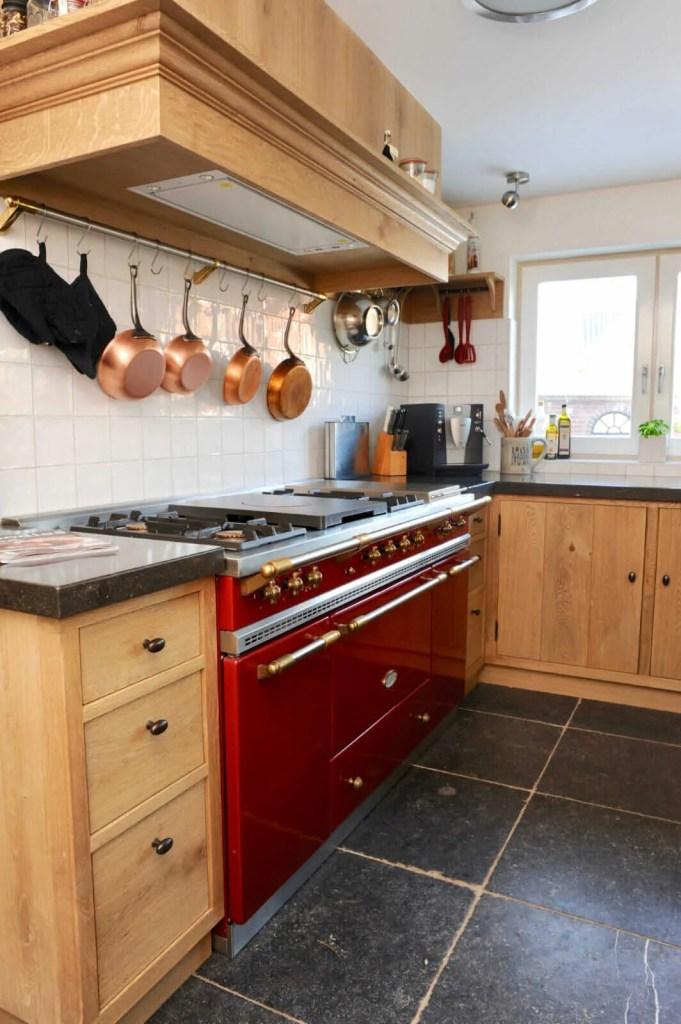 Eiken keuken Blitterswijck Lacanche fornuis