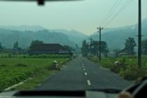 road leading to Ratu Boko temple