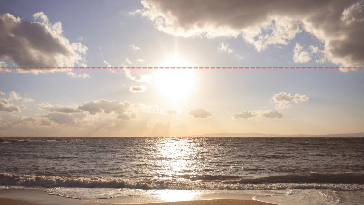 海平面的三分線構圖