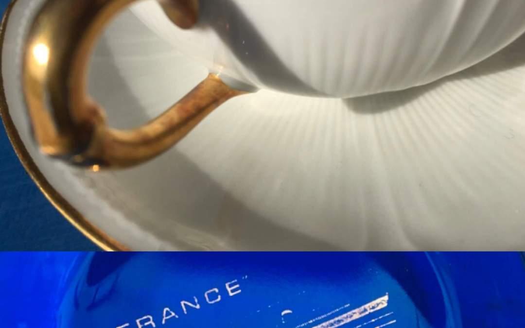 Tasses à thé en porcelaine de Limoges