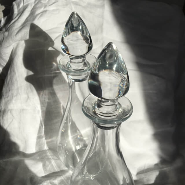 Carafes en verre raffinée bouchon somptueux