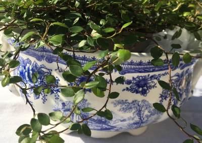 Jolie soupière bleue Lunéville