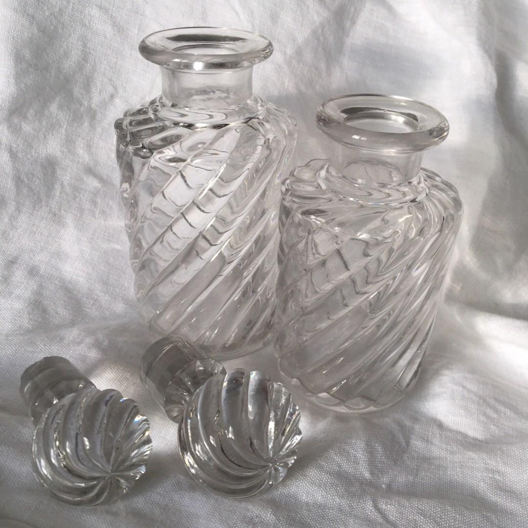 Flacon Baccarat Bambou Tors cristal XIX raffiné