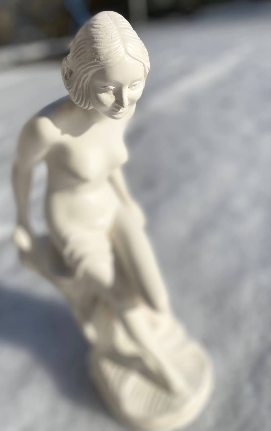 Sculpture femme art déco JPMD platre d'étude