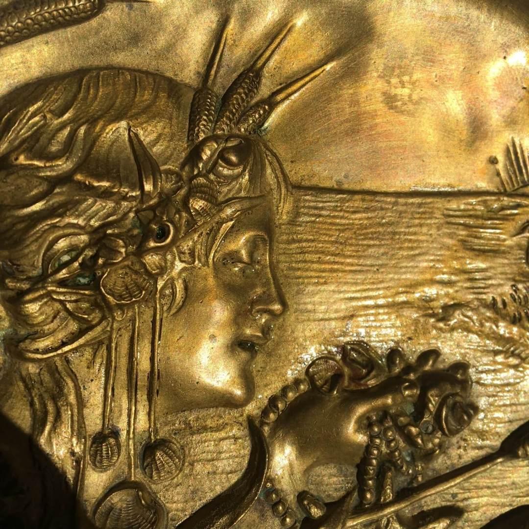 Vide-poche Art Nouveau bronze