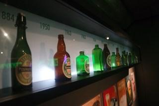 Heineken bottles over the years