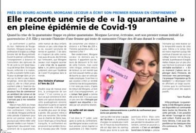 roman la quarantaine 2.0 écrit par Morgane Lecoeur