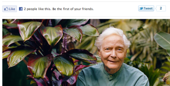 "O Magazine features W.S. Merwin, ""Tree Spirit"""