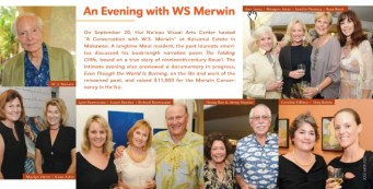 Maui No Ka Oi Magazine: An Evening with WS Merwin