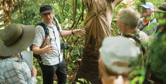 Dr. Bill Baker of Royal Botanic Gardens Kew Tours Merwin's Garden