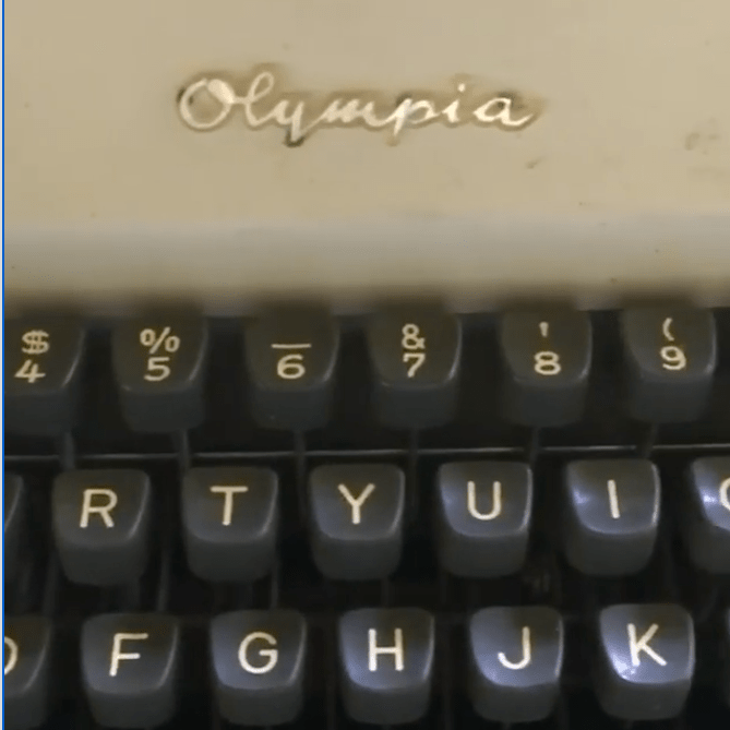 Storied Object - Typewriter