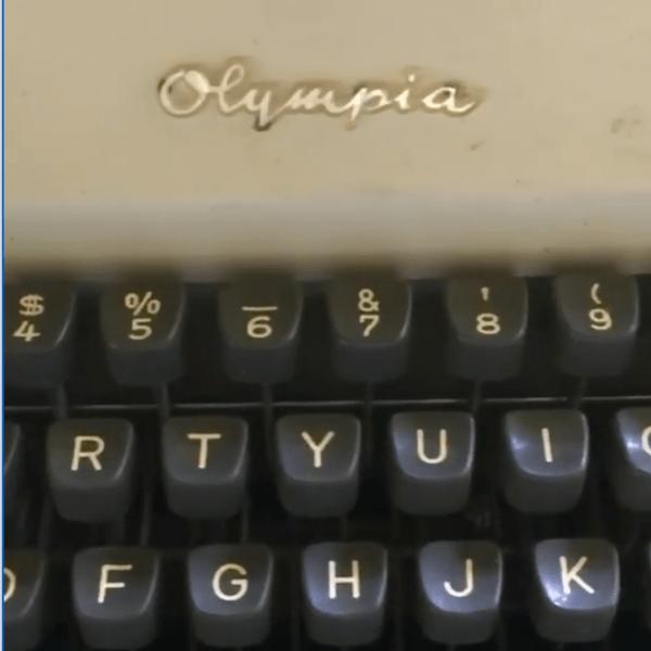 Storied Object - Typewriter