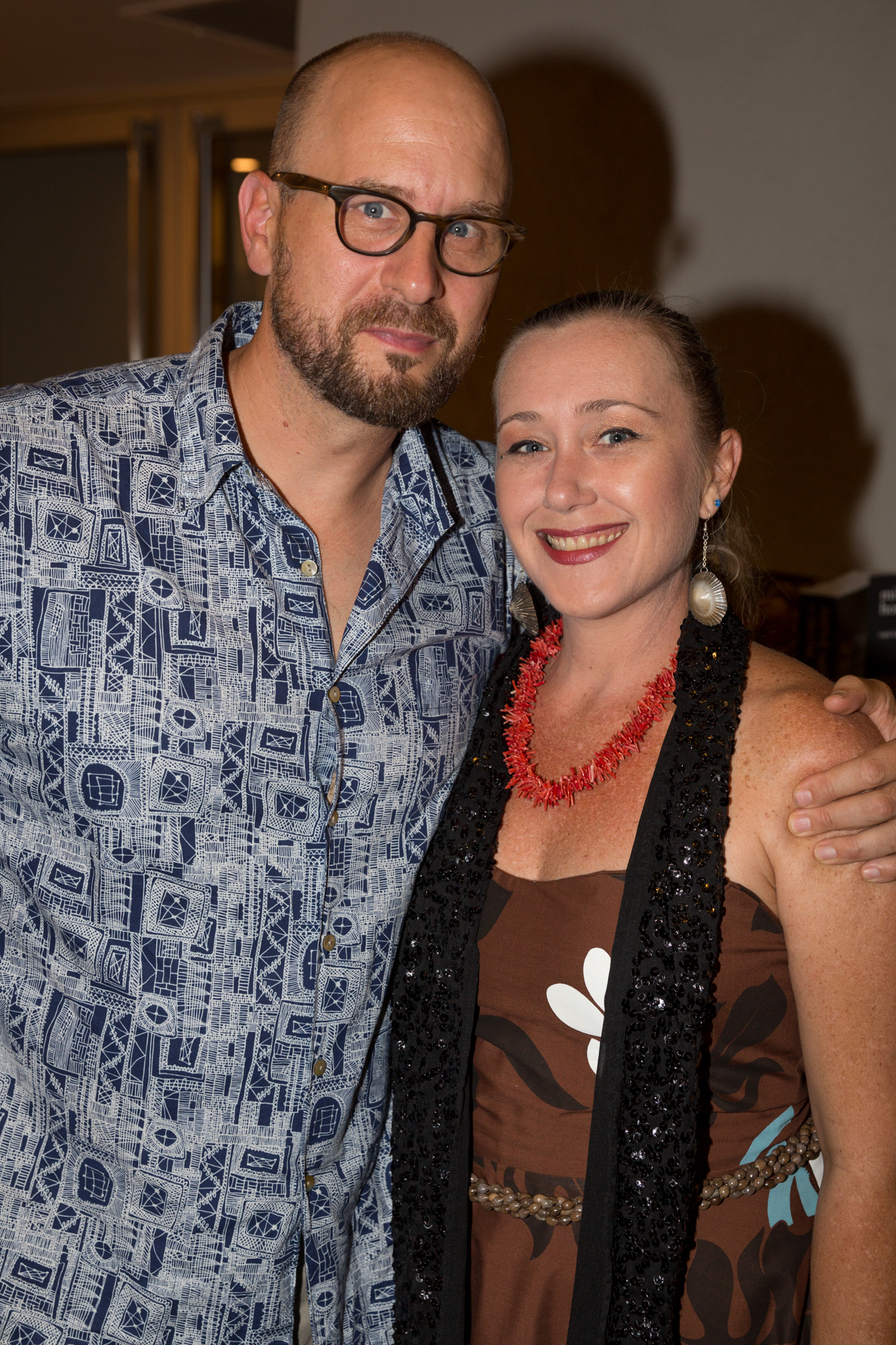 Stefan Schaefer and Lisa Villiarimo at William Finnegan in The Green Room