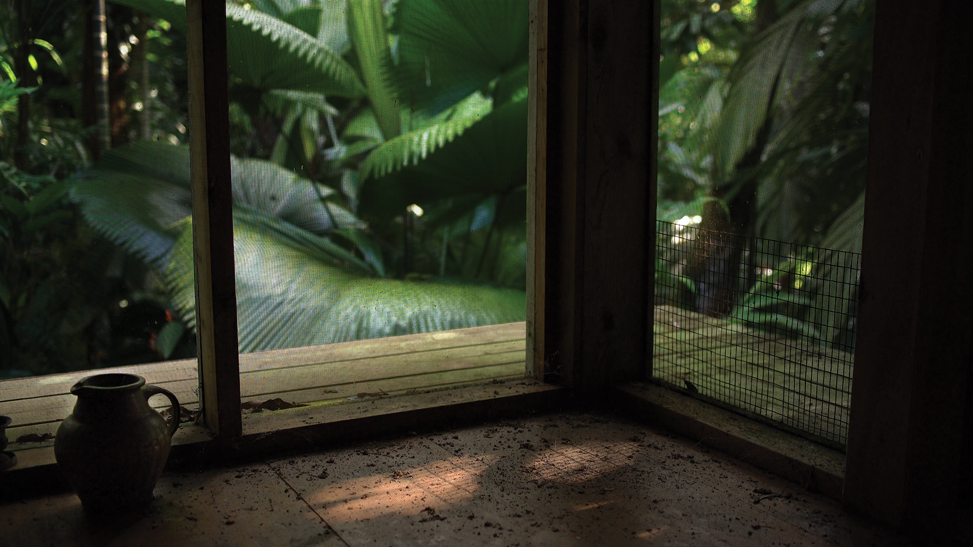 The Sitting Room: Sit in W.S. Merwin's meditation dojo, deep in the palm forest