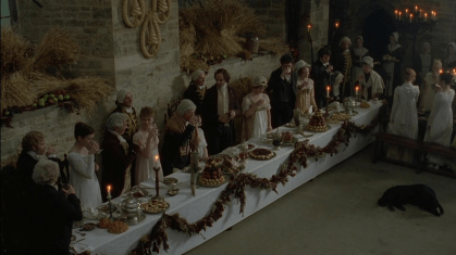 Broughton Castle (Scene from Emma 1995, BBC) Pemberley's Great Hall used for the Harvest Ball