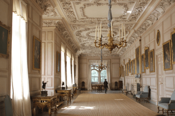 Sudbury Hall - Photo by Janet Taylor Pemberley's Gallery where Darcy's portrait hangs